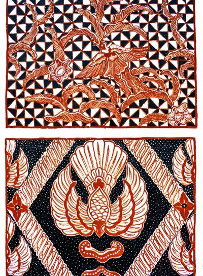 Indonesian wall pattern