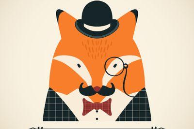 Fox vector card.