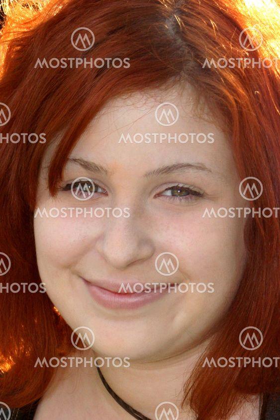 Glada Teen porträtt