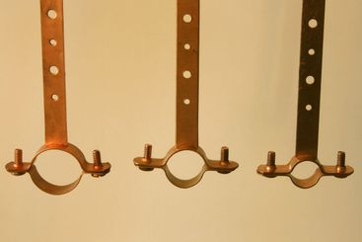 copper pipe hangers