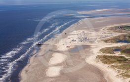 St. Peter-Ording, Aerial Photo of the Schleswig-Holstein...