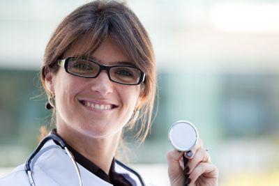 Friendly female doctor