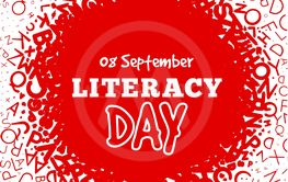Literacy Day - September 8th. Vector illustration with...