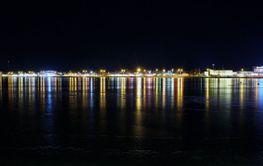 Decemberkväll i Norra hamn i  Luleå