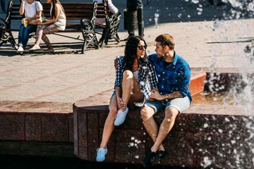 man and woman to spend time together