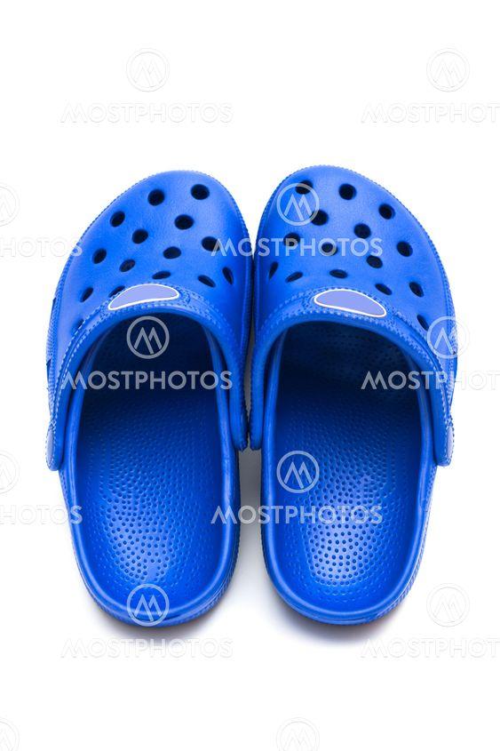blue rubber shoes