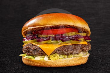 Homemade juicy burger