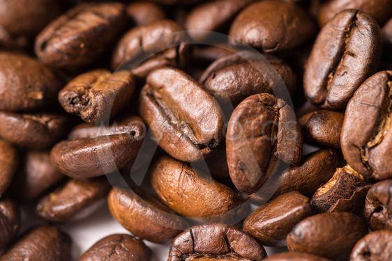 fullframe pile of brown Roasted coffee beans