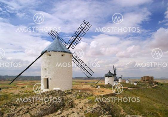 Consuegra Windmühlen - Consuegra Windmill 01