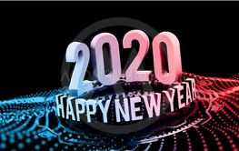 Congratulations on the New Year 2020 in technostyle....