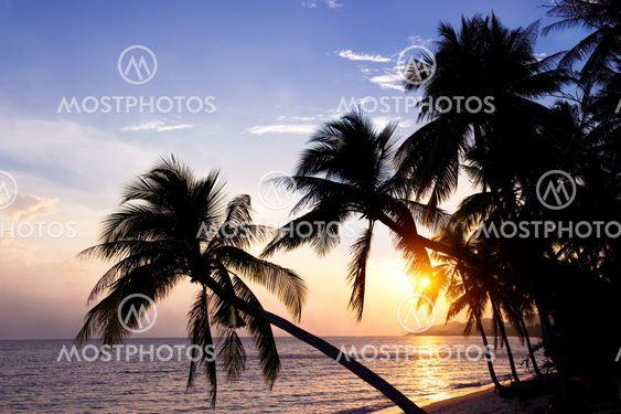 Samui island at sunset, Thailand