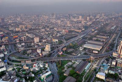 Bangkok road traffic
