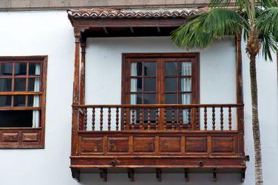 canary islands, la palma , santa cruz de la palma : balcony
