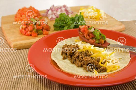 Meksikon pehmeä taco