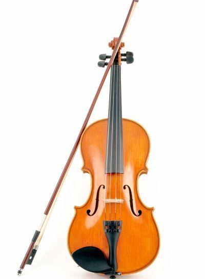 Isolated italian Violin