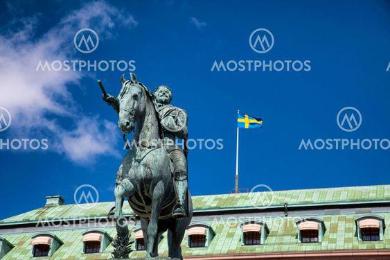 Gustav II Adolf staty i Stockholm