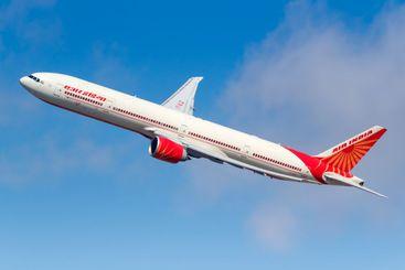 Air India Boeing 777-300ER airplane New York JFK airport