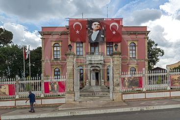 Town hall in the center of city of Edirne,  Turkey