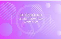 Vector illustration, background in purple, 16:9 format.