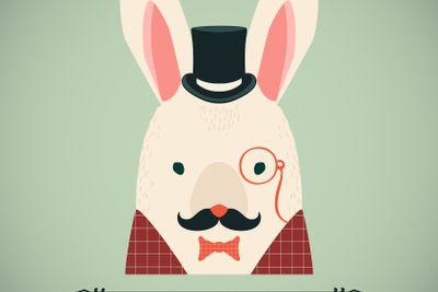 Rabbit vector card.