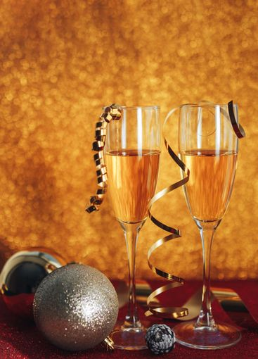 New year champagne.