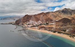 Aerial photography drone point of view of Playa de Las...