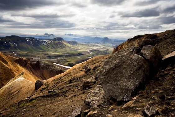 Landskap på Island