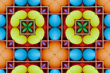 Kaleidoscope, bright colorful cheerful, seamless...