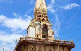 Pagoda at Wat Chalong Temple in Phuket, Thailand.