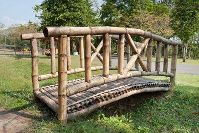 Wooden Bamboo bridge
