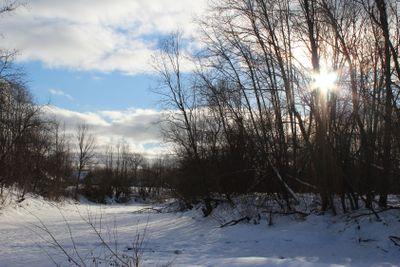winter, ice, river, snow,