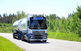 Volvo FH16 Tank Truck Trucking in the Summer