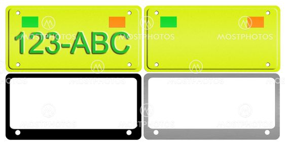 License Plate Illustration Set