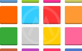 Flat blank web icon color square button