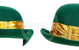 St Patricks Derby Hat Different Positions Isolated