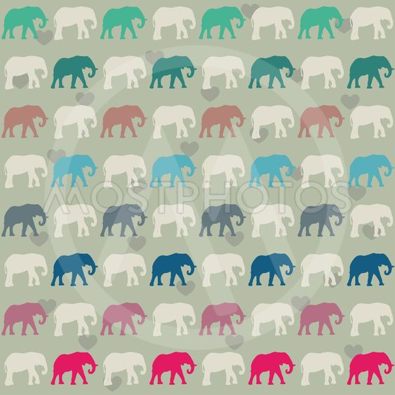 Seamless pattern. Texture with colorful elephants. Can be...