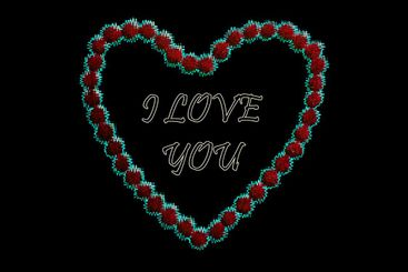 Valentine day. Neon text I love you in red neon heart