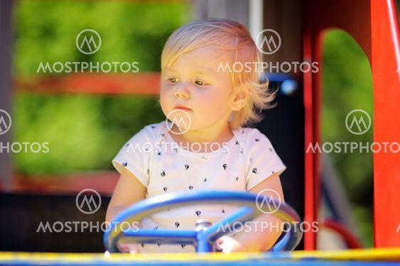 Toddler boy on playground
