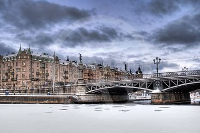 Bridge and buildings.