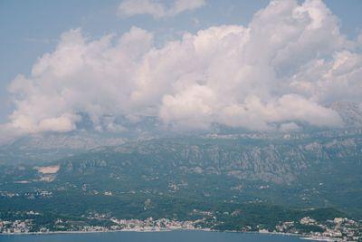 Panorama of the herceg-Novi coast in Montenegro. View...
