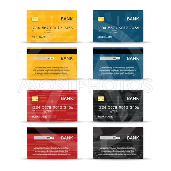 Credit or debet cards design set