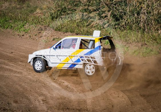 """Car during a """"stock car cross"""" free demostration."""