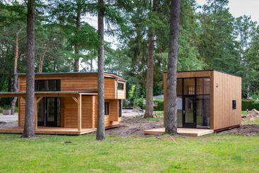 Dutch wooden tiny houses