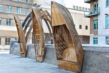 Wooden Boat Benches