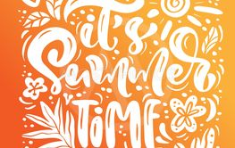 It s summer time calligraphy lettering text for greeting...