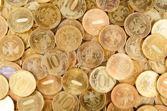 Russian coins background