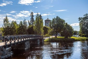 Entrence to the Olavinlinna Castle in Savonlinna, Finland