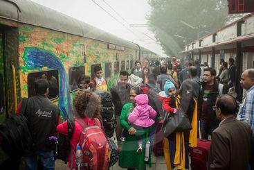 Garib rath train from Delhi to Jaipur.