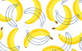pattern with bananas
