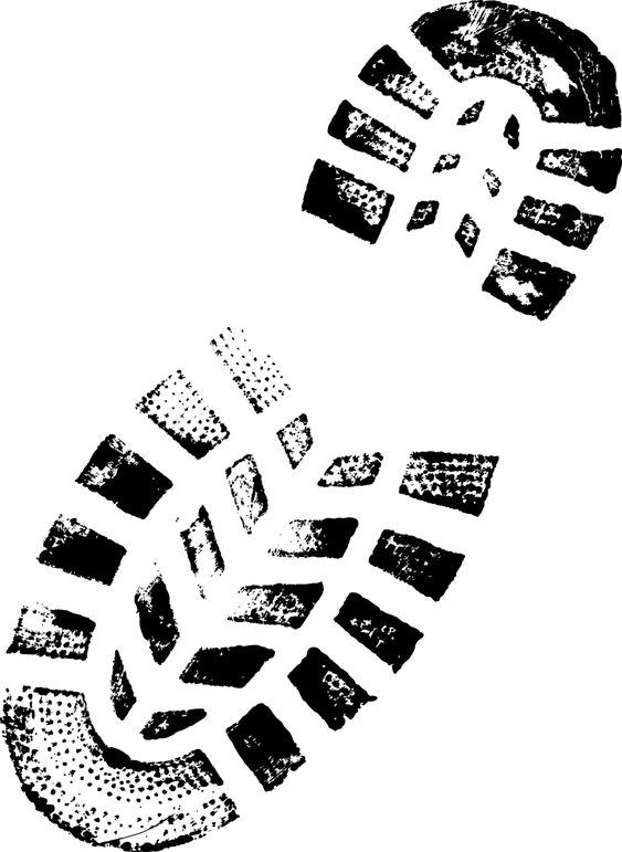 Mountain BootPrint - Highly detailed vector of a bootprint